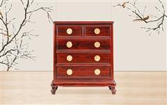 古森红木 阔叶黄檀 明式家具 明式五斗柜 新古典红木家具 客厅系列 中式五斗柜