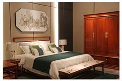 地天泰·国颂 2.1米和风1号大床 缅甸花梨(大果紫檀)大床 卧室套房系列 新中式红木家具 时尚简约