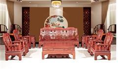 木緣紅木 小葉紅檀沙發(學名紅鐵木豆) 小葉紅檀清式沙發10件套 紅檀沙發 新古典沙發 中式客廳 中式實木沙發 客廳系列