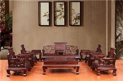 木缘红木 印尼黑酸枝沙发(学名阔叶黄檀) 黑酸枝卷书沙发11件套 黑酸枝沙发 新古典沙发 中式客厅 中式红木沙发 客厅系列
