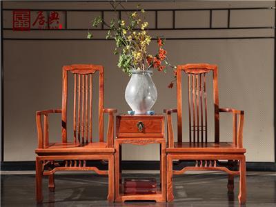 居典红木 刺猬紫檀休闲椅 新中式红木休闲椅  客厅休闲系列 悦几休闲椅