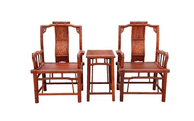 竹节椅(小叶红檀3件)